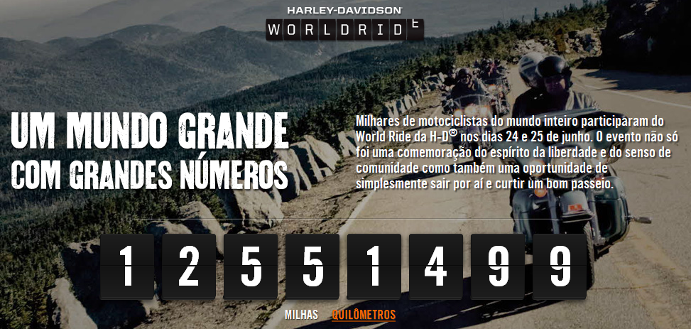 O Harley-Davidson World Ride aconteceu no final do mês de junho