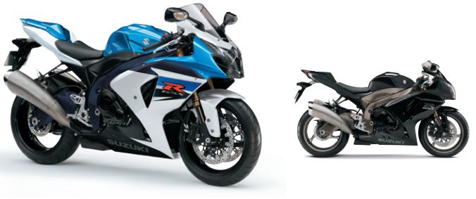 A moto Suzuki, com ignição eletrônica e tanque de combustível de 17,5 litros, é vendida nas cores azul e preta.