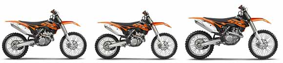 Motos KTM SX-F 250, 350 e 450