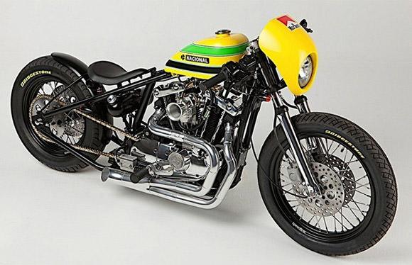 """A moto em homenagem ao ex-piloto Ayrton Senna foi chamada de """"Defensor""""."""