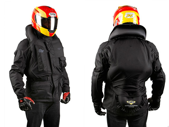 Colete com airbag para moto