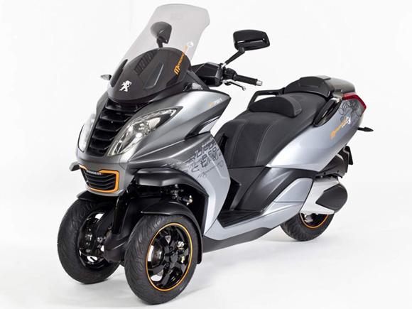 Scooter da Peugeot tem duas rodas dianteiras