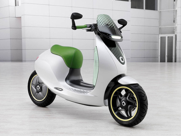 Scooter eletrico da Smart - empresa do grupo Daimler