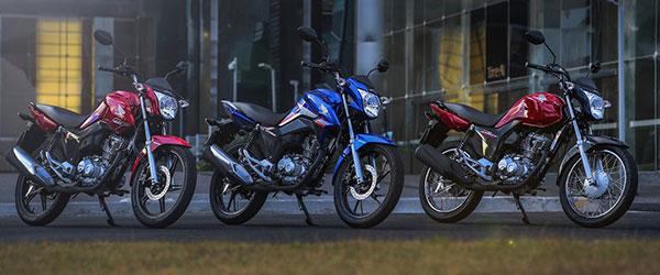 As motos mais vendidas no Brasil em abril de 2018