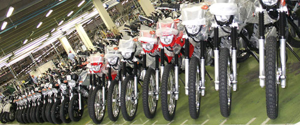 As motos mais vendidas do Brasil no 1º semestre de 2017