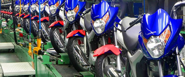 Produção de motos cresce no Brasil